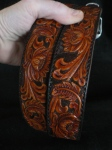 tooled leather belt @acrossleather.com