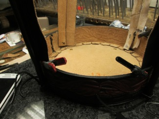 custom,leather,drum handbag,acrossleather,adkartsboutique